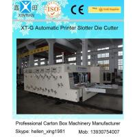 China Speed 120 Pieces / Min Carton Making Machine Water Ink Flexo Printer Slotter on sale