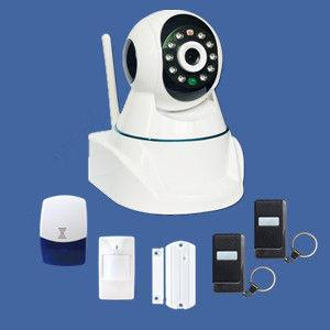 China GSM alarm IP camera system supporting TCP/IP internet protocol built-in web server on sale
