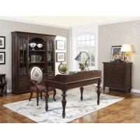 Home Office Study room furniture Wooden Reading Writing desk Computer table with Storage cabinet and Bookshelf cabinet