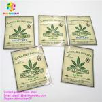 Plastic ziplock  herbal incense packaging bag with different flavors