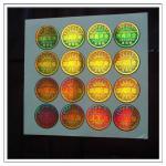 Etiquetas feitas em guangzhou, etiquetas holográficas de alta qualidade feitas sob encomenda do holograma da segurança do fundo do ouro