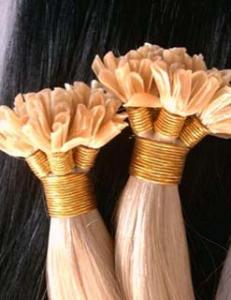 China Remy Virgin Human Hair Nail Tip / U tip Hair Extension on sale