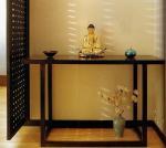5 Star Hotel Lobby Solid Wood Console Table Walnut  Veneer Reception Table