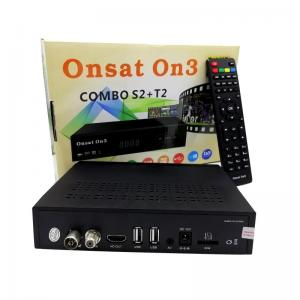 China Remote Control Digital Satellite Receiver Onsat On3 DVB-S2 DVB-T2 Sunplus 1506T CPU on sale