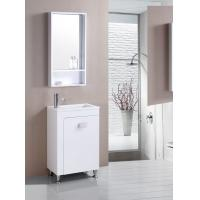 floor PVC Bathroom Cabinet / Single Bowl Bathroom Vanities with mirror 550cm