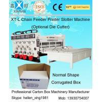 11kw Semi-Auto Feeding Flexo Printer Slotter Machine / Carton Box Printing Machine