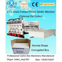 Chain Feeder Auto Flexo Printer Slotter Machine Corrugated Box Making Machine