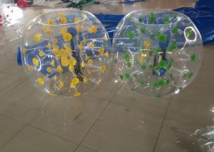 China Blue Dot Human Bubble Ball Adults / Children , 6kg Inflatable Bubble Football BB-PVC100 on sale