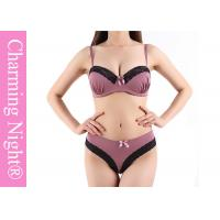 China Good Mature Ladies Sexy Push Up Bra Sets With Beautiful Brief Panties on sale
