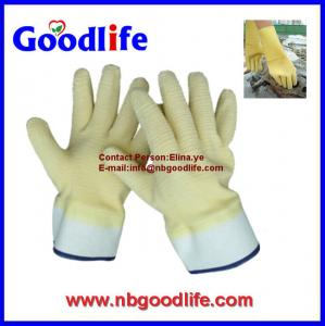 China Protective gloves , safety latex coating Gloves on sale