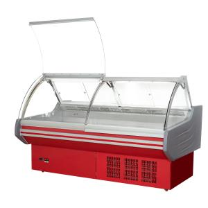 China Cheese Meat Deli Display Refrigerator With Front Flip Glass Cover / Food Display Cooler on sale