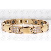 China Full Rose Gold Stainless Steel Magnetic Hematite Bracelets For Men on sale