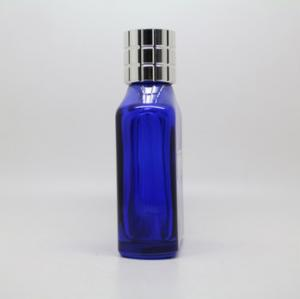 Quality Blue Color Small Refillable Perfume Spray Bottles Handsome Men Style for sale