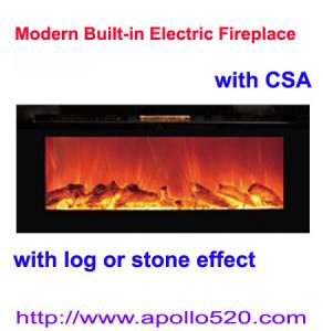 China 50inch Wall Fireplace with Log Flame on sale