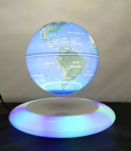 China led light magnetic floating levitate bottom globe world with lighting 6inch 7inch 8 inch on sale