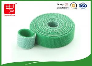 China Green flexible hook and loop 180mm Length ,  hook and loop soft and flexible sew on tape on sale