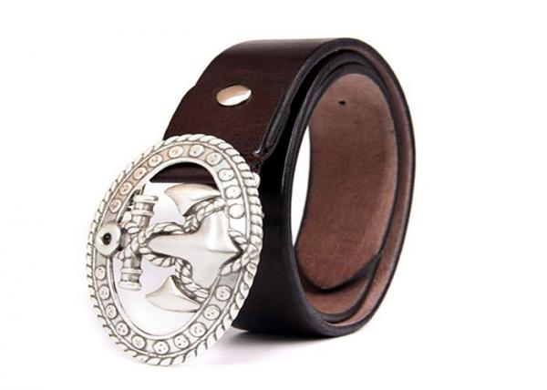 Marshal Mens Genuine Leather Reversible Belt with Rotated Buckle Black /& Brown New
