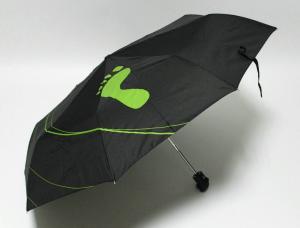 China Customize Raines Black Green Automatic Folding Umbrella with Plastic Handle on sale