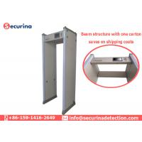 China AC100V~240V Walk Through Metal Detector Gates 45 Zones With Directional Counter on sale