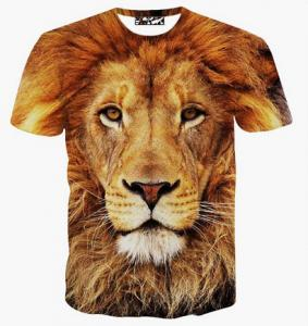 China Fashion Clothing Latest New Lion 3d Tshirt Wholesale Lion 3d T shirt For Men on sale