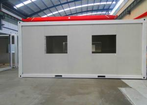 China White Panel Flat Pack Container House Environmental Friendly With Double Window on sale
