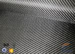 3K 200g 0.3mm Twill Weave Silver Coated Fabric Carbon Fiber Fabric
