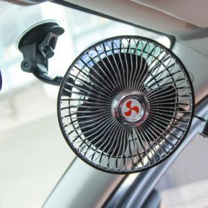 China Strong Sucker Clip Car Fan 6 Inch Automatic Shaking Head With Speed Control Switch on sale