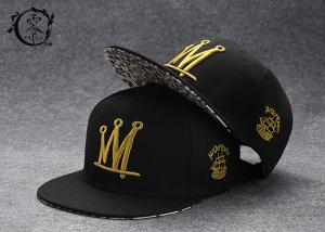 China Rapper Caps Printed Headwear Flat Snapback Baseball Caps Adjustable Mesh Hat One Size on sale
