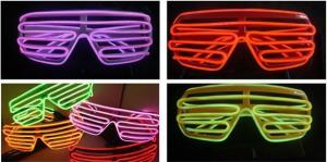 China Plastic Glowing El Wire Glasses For Party  on sale