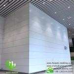 Aluminum facade cladding powder coated white PVDF finish aluminum sheet