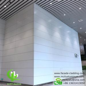 China Aluminum facade cladding powder coated white PVDF finish aluminum sheet on sale