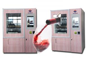 China Multi Languages Wine Vending Machine , Champagne Beer Vending Machine on sale