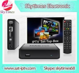 China PTV Set Top Box MAG 250 Linux system including iptv account mag 254 mag250 wholesale