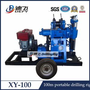 China XY-100 Trailer Mounted Hydraulic Water Well Drilling Rig on sale