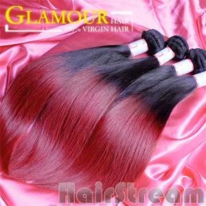 China 100% human ombre hair braiding hair ombre weave hair sew in human hair weave ombre hair on sale