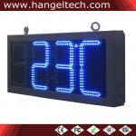 12 tiempo y temporeros de reloj análogo del dígito del LED. Muestra