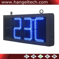 China 12 LED Digit Analog Clock Time and Temp. Sign on sale
