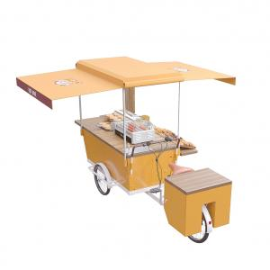 China Electric hot dog cart hambuger bike street vending mobile selling vending tricycle on sale