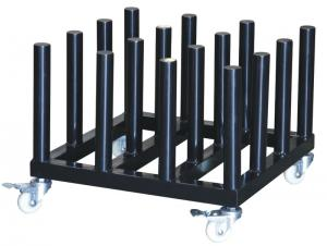 China organizer rack Rolling Floor Rack for Vinyl Roll Storage  Heavy Duty Media Roll Cart on sale