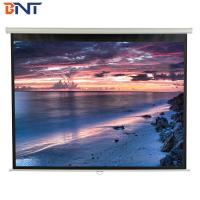 China 84 Inch Electric Projector Screen High Performance With 100 Degree Viewing Angle on sale