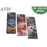 China Three Side Seal Food Packaging Bags For Various Flavoured Solid Drink Storage on sale