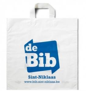 China 100% Compostable Packaging Bags custom wholesale soft loop plastic handle bag on sale