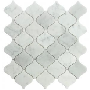 """China Teja de mosaico blanca de la forma de la linterna de Carrara 12x12"""" on sale"""