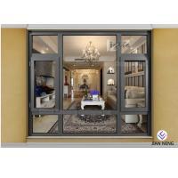 China Electrophoresis Coated Aluminium French Windows With Triple Glazed Glass on sale