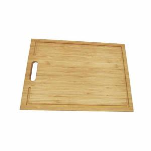 China 3 Compartments Bamboo Bread Cutting Board Non Slip 350*250*15mm With Juice Grooves on sale