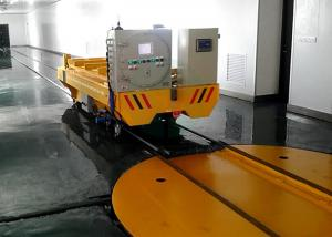 China 90/270/360 Degree Heavy Duty Electrical Motorized Industry Rail Car Turntable on sale