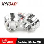 IPHCAR Led Halo RIng Shroud 2.5 Mini H1 Projector Lens Shroud White Red Blue Cree Chip Led Halo Ring Shroud