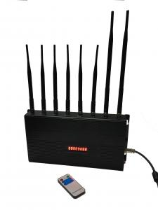Quality Cell Phone Signal Remote Control Jammer EST-502C8 12W 8 Omni Directional for sale