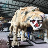 Artificial Life size Animatronic Saber-toothed Tiger/Smilodon