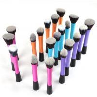Blue Long Aluminum Tube Cosmetic Makeup Brush Set ,  Basic Makeup Kit For Beginners